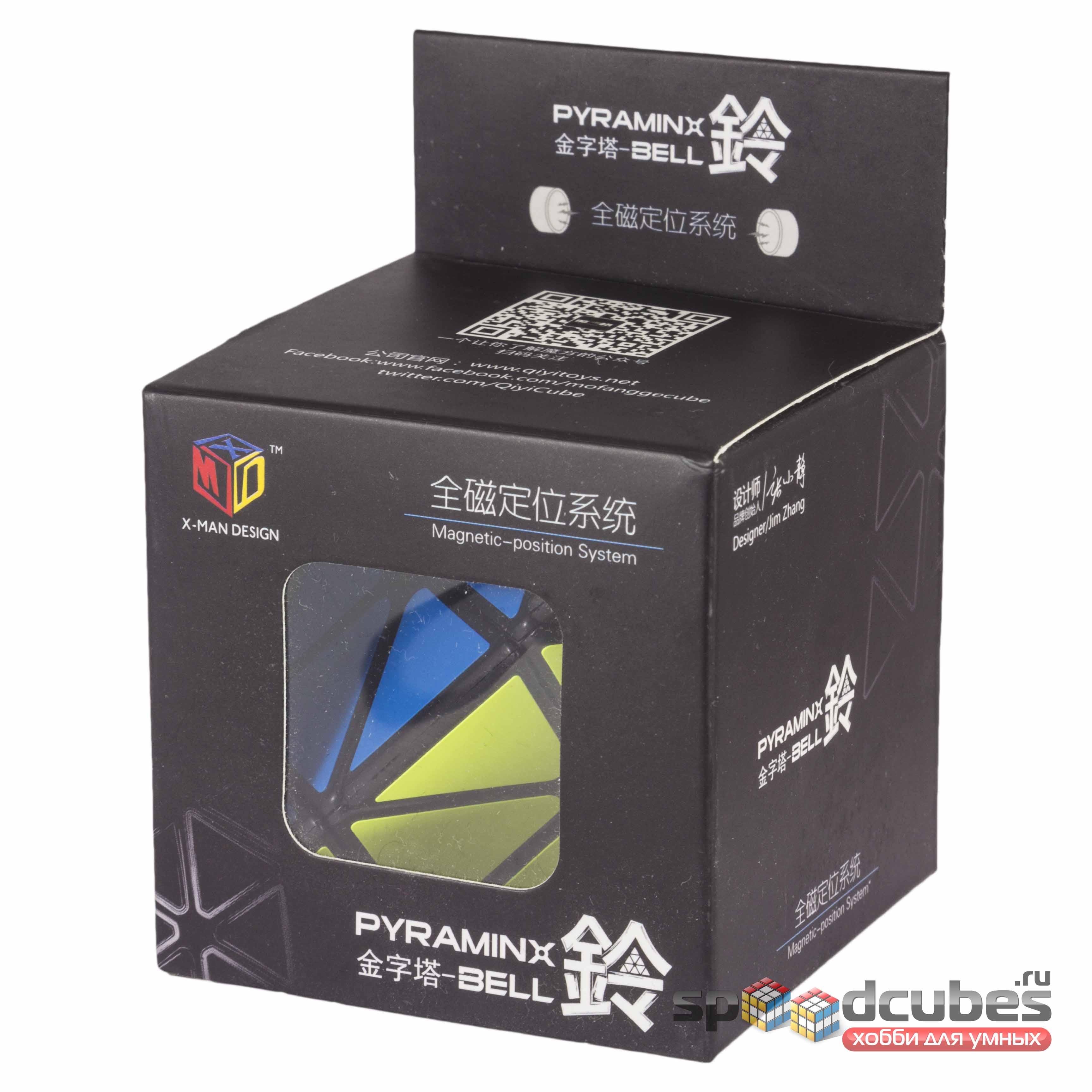 QiYi (MoFangGe) X Man Magnetic Pyraminx Black 1