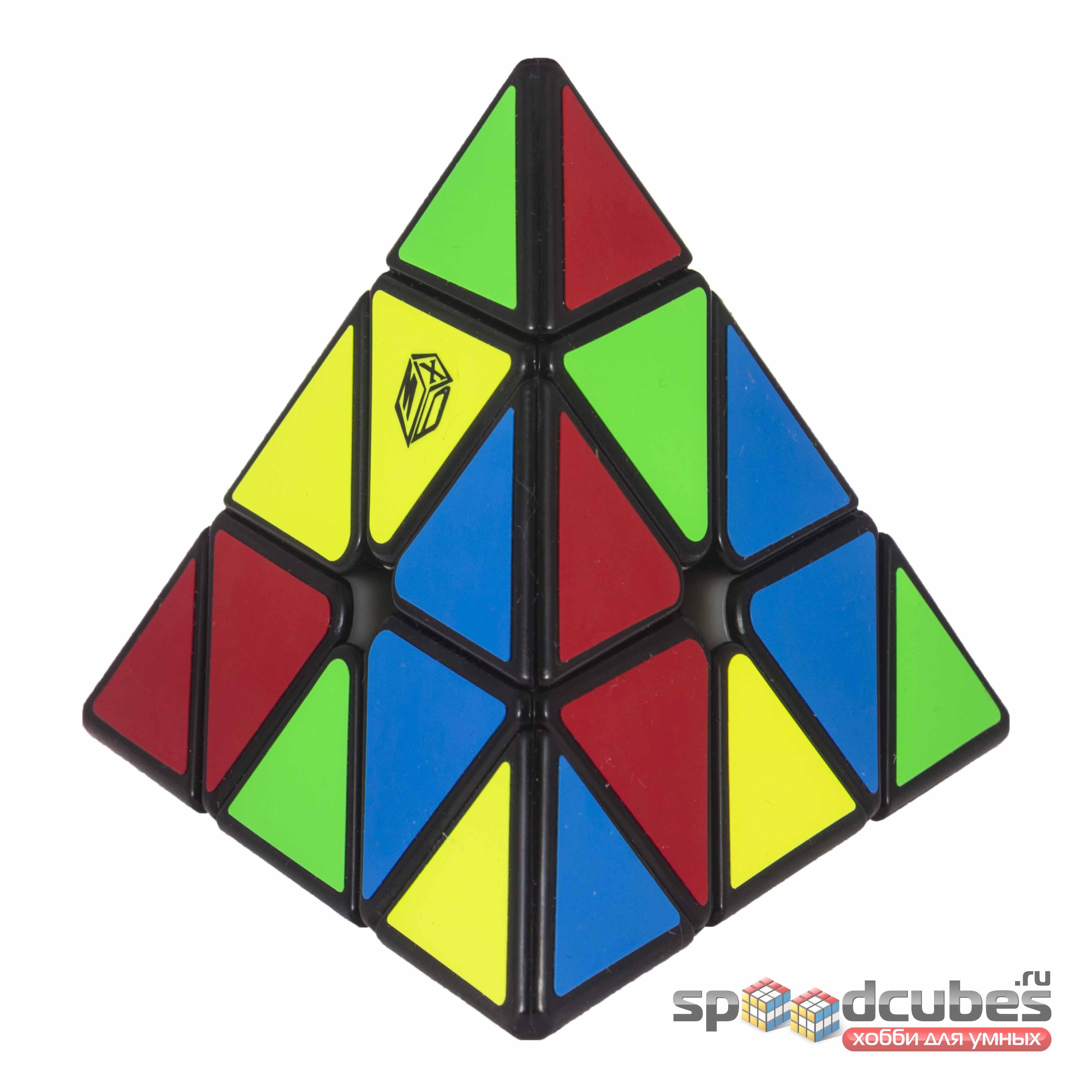 QiYi (MoFangGe) X Man Magnetic Pyraminx Black 3