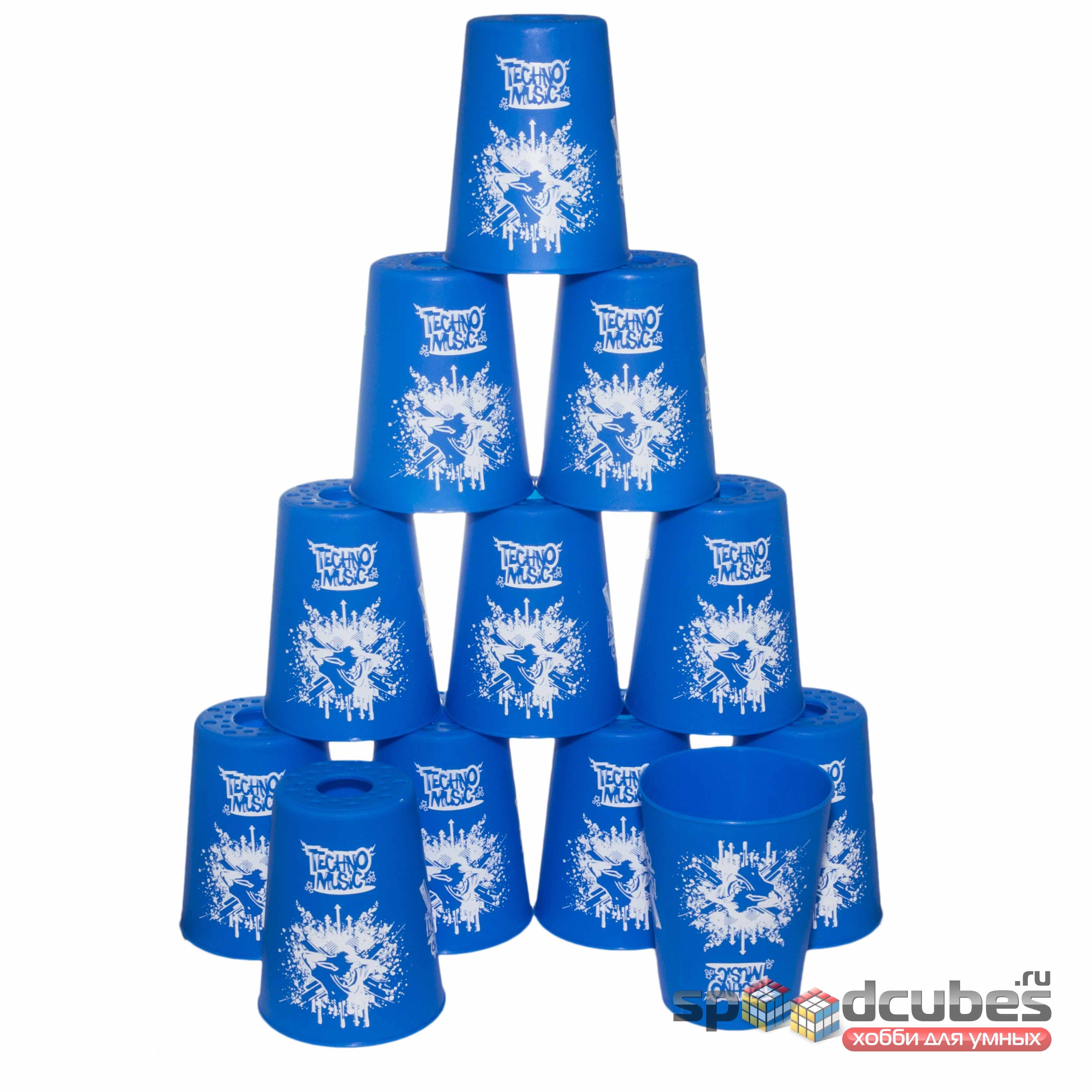 Yj стаканы для спидстакинга синие 1