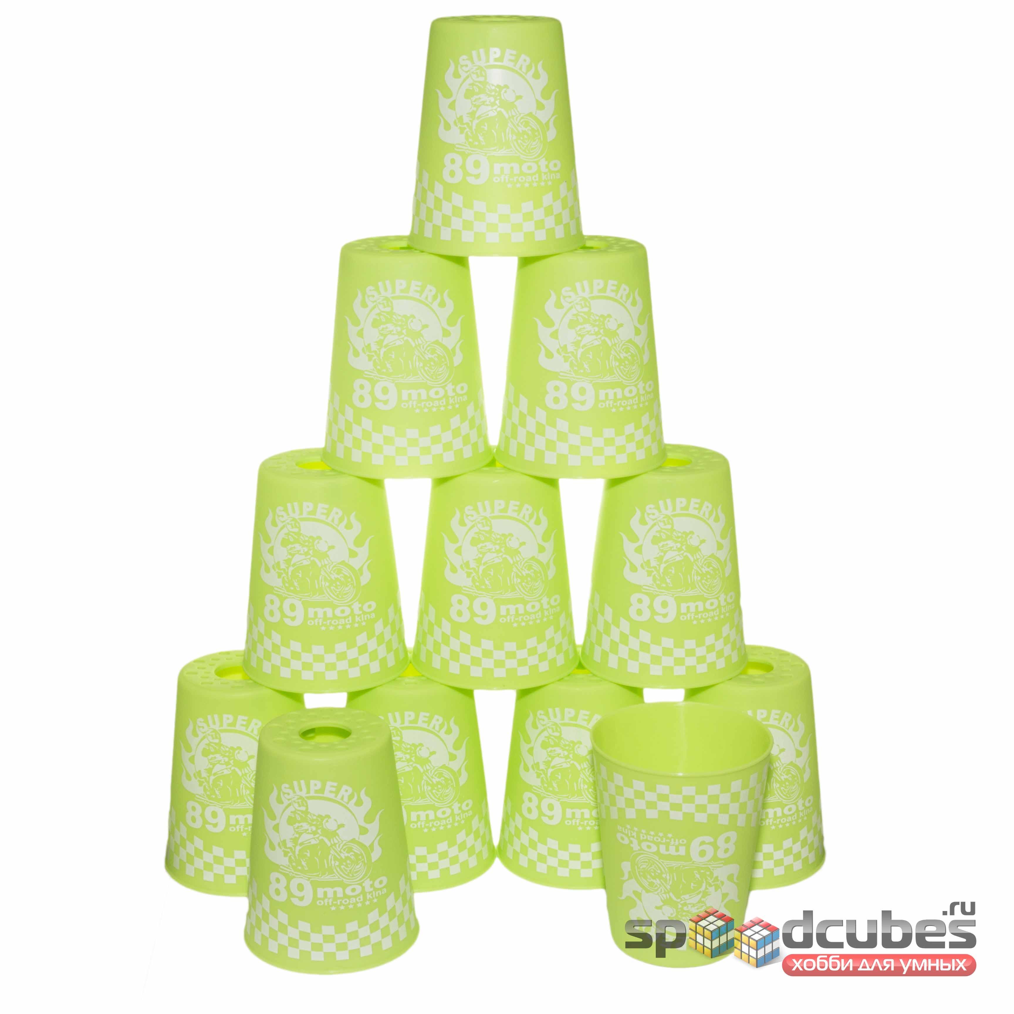 Yj стаканы для спидстакинга зелёные 2