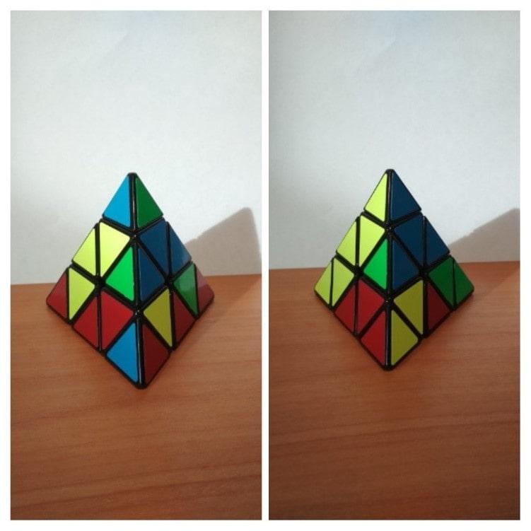 Схема сборки кубика Рубика пирамидки