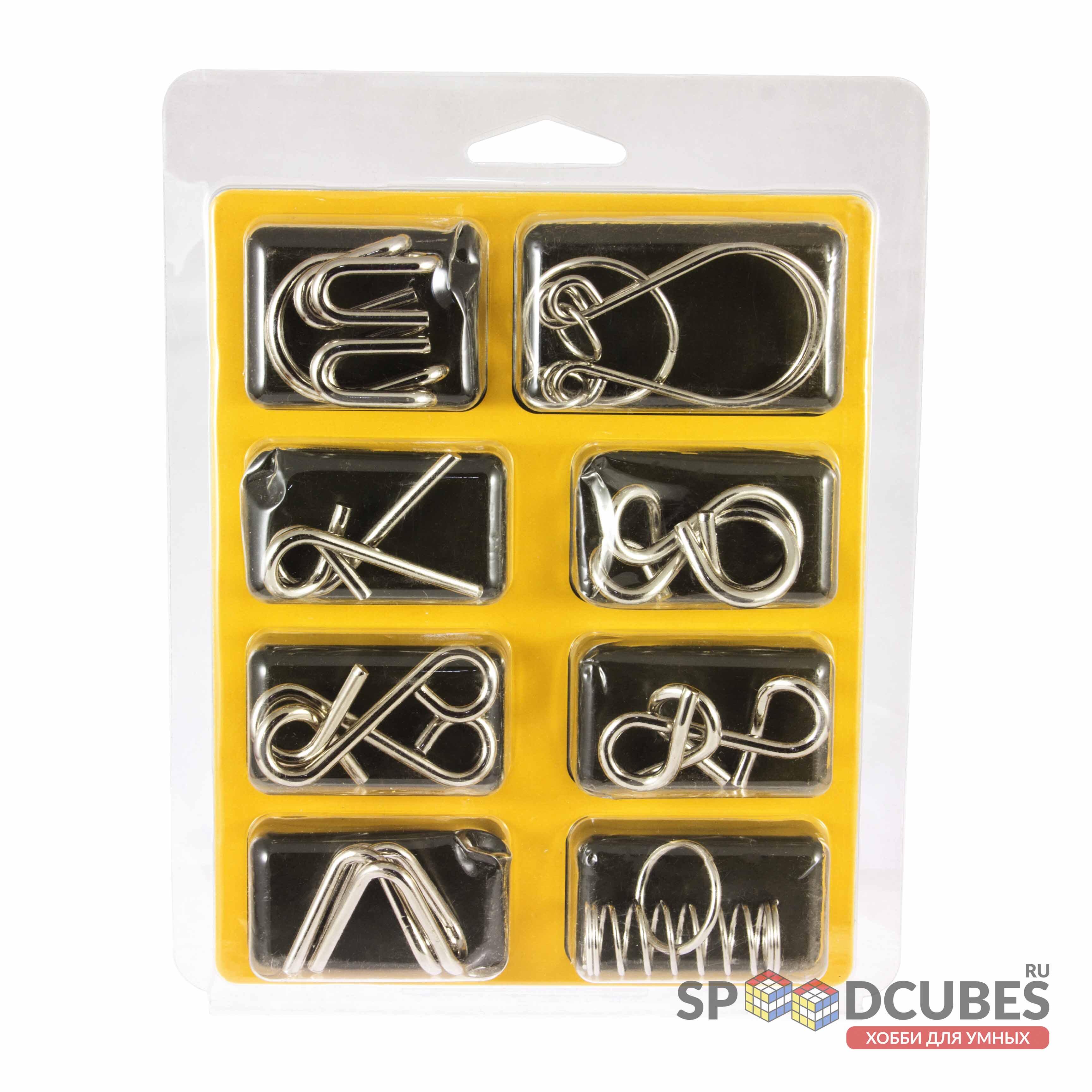 Металлические головоломки 8А (набор 8 шт.)