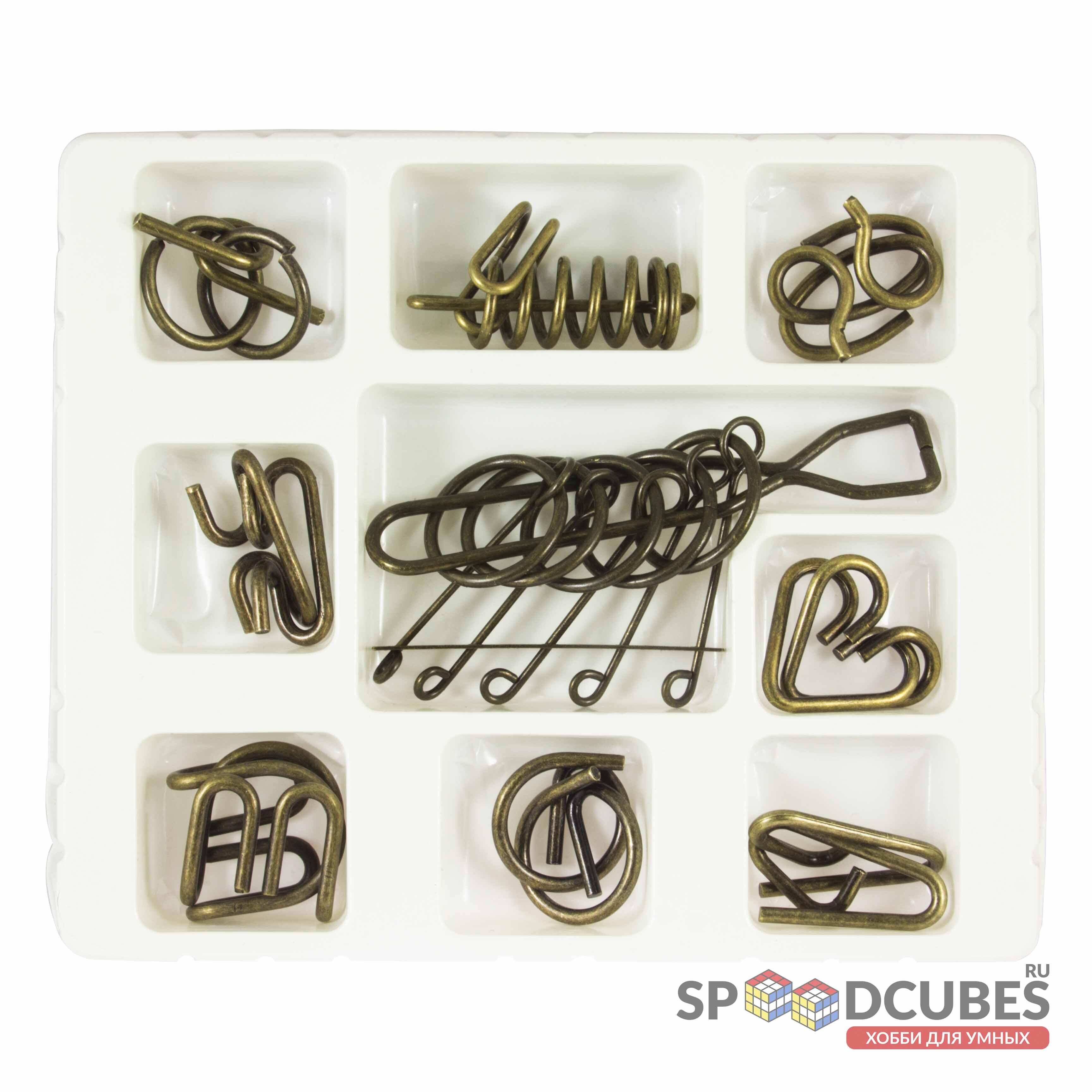 Набор металлических головоломок (9 шт)