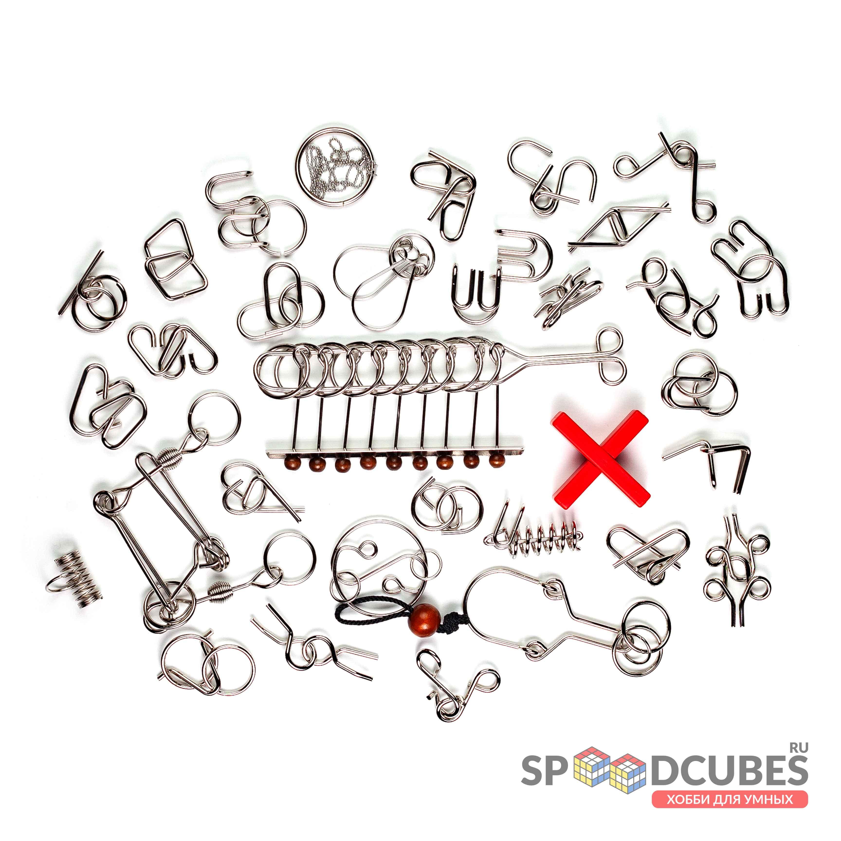Набор металлических головоломок (32 шт.)