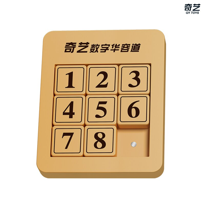 Qiyi Mini Magnetic Number 8 Sliding Klotski Puzzle Box Kids Educational Toys Mini Puzzle Creative Interactive