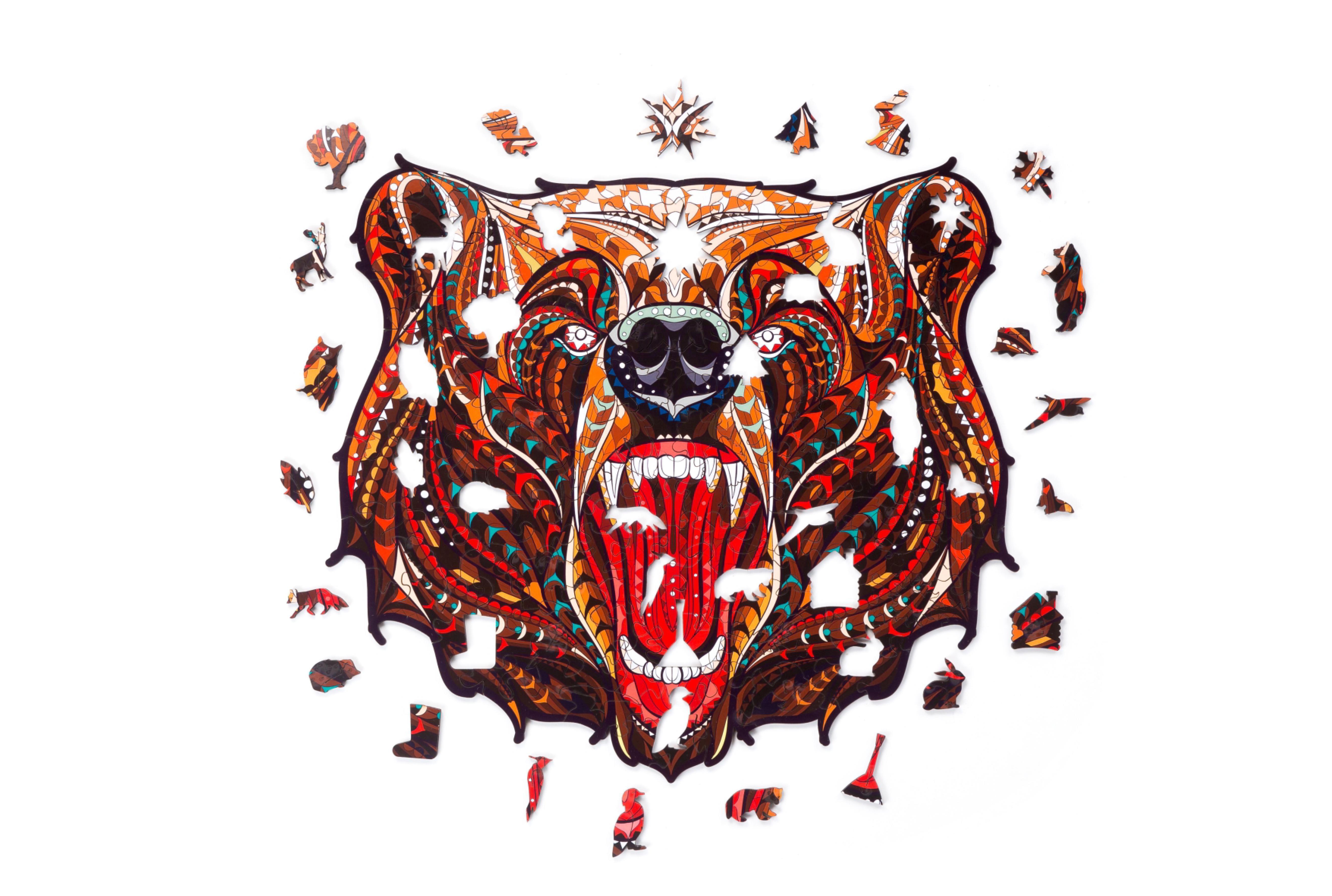 """Деревянный пазл """"Сказочный медведь"""""""